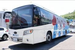 Kia Granbird. Туристический автобус 2011 г. в. без пробега по России, 12 700 куб. см., 47 мест. Под заказ