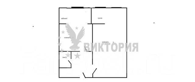2-комнатная, улица Енисейская 9а. Вторая речка, агентство, 40 кв.м. План квартиры