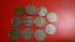 10 Крупных иностранных монет Австралия Шри Ланка ЮАР Гон Конг