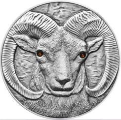 "Большая красивая монета Кристаллы ""Архар (горный баран)"" + капсула!"