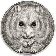 Большая красивая монета Кристаллы / Хомяк/+капсула!
