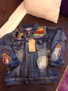Куртки джинсовые. Рост: 122-128, 128-134 см