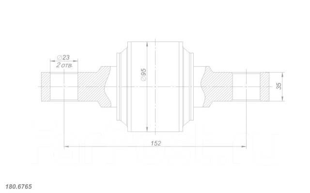 Рем. комплект реактивной штанги DAF, Scania, Volvo, d95-152-d23-35. Volvo Scania DAF