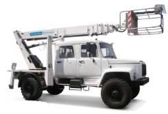 Випо-24. Автогидроподъемник ВИПО-24-01 на шасси ГАЗ-33086 (4х4) 5м. кабина, 24 м.