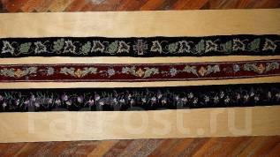 Три старинных расшитых иерейских (архиерейских) пояса. Россия, кон. XIX. Оригинал