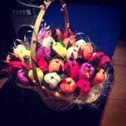 Корзины цветов из конфет для Учителя