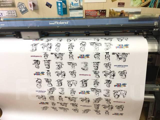 Интерьерная печать на Roland с ламинацией и контурной резкой до 1,6 м!