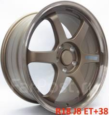 RAYS VOLK RACING TE37 Gravel. 8.0x18, 5x100.00, ET38, ЦО 73,1мм.