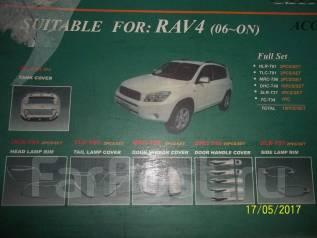 Накладки наружные. Toyota RAV4, ACA30, ACA31, ACA31W, ACA33, ACA36W, ACA38, GSA33, GSA38 Двигатели: 1AZFE, 2AZFE, 2GRFE