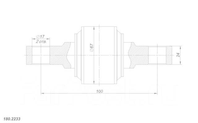 Рем. комплект реактивной штанги MAN, Scania, Volvo, d67-100-d17-24 ROST. Volvo Scania MAN