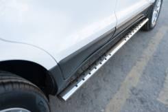 Пороги труба овал с проступью Ford Ecosport 2014- (75*42). Отправка. Ford EcoSport, B515 Двигатели: DURATEC, HXJD, IQJB. Под заказ