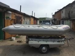 Tohatsu. длина 3,85м., двигатель подвесной, 25,00л.с., бензин
