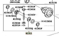 Дифференциал. Lexus RX270, GGL15 Lexus RX350, GGL15W, GGL15 Lexus RX450h, GGL15 Двигатель 2GRFE