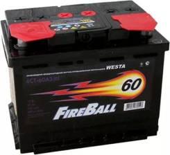 FireBall. 60 А.ч., левое крепление, производство Корея