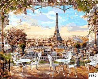 Картина по номерам Париж (40х50)