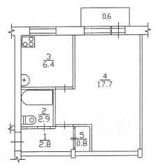 1-комнатная, улица Дончука 8. Железнодорожный, агентство, 35 кв.м.