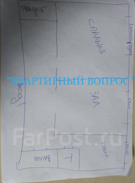 2-комнатная, улица Шилкинская 11. Третья рабочая, агентство, 50 кв.м. План квартиры