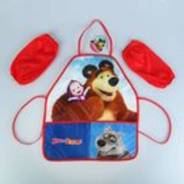 Фартук для труда с нарукавниками Маша и Медведь .Мишка