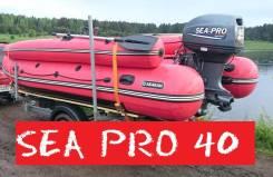 Sea-Pro. 40,00л.с., 2х тактный, бензин, нога L (508 мм), Год: 2017 год. Под заказ