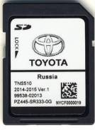 SD карта Toyota Navigation SD card for TNS510 - 2014/2015 Ver.1 (Росси