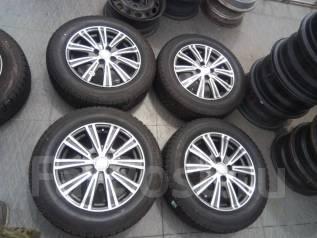 Enkei фирменные литые диски + 185/65R15 жирнючий комплект Bridgestone. 5.5x15 4x100.00 ET50 ЦО 73,1мм.