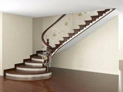 """Изготовлю лестницы на металлокаркасе """"под ключ"""", с деревянными ступеня"""