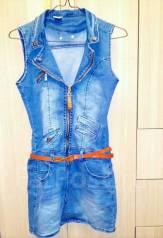 Сарафаны джинсовые. Рост: 152-158, 158-164 см