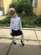 Блузки школьные. Рост: 116-122, 122-128 см