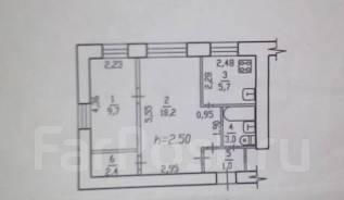 2-комнатная, улица Сергеевская 10. Железнодорожный, агентство, 44 кв.м.