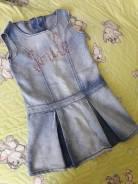 Платья джинсовые. Рост: 116-122, 122-128 см