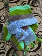 Шапка и шарф. Рост: 60-68 см