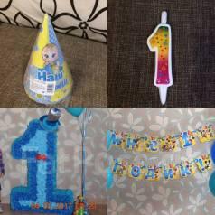 Продам единичку, колпачки, свечу и праздничную растяжку для годовасика