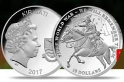 * Кирибати 10 долларов 2017 We Will Remember Them * Война WWI * Лошадь