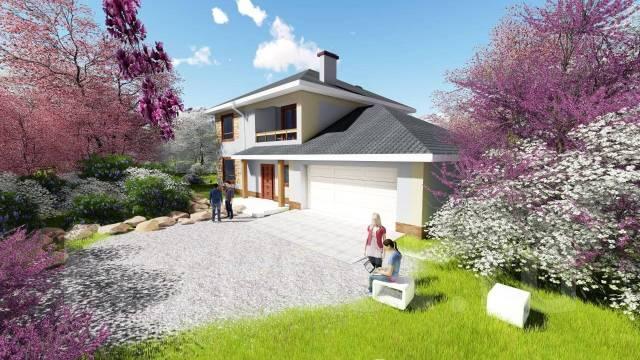 Az 1200x AlexArchitekt Продуманный дом с гаражом в Сарове. 200-300 кв. м., 2 этажа, 5 комнат, комбинированный