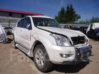 Toyota Land Cruiser Prado. ПТС 120 2008г. Белый. 2,7л. Левый руль