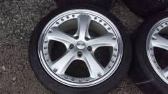 Комплект разношироких оригинал дисков OZ Italiy R18 С шинами Michelin. 8.0/9.0x18 5x114.30 ET40/40