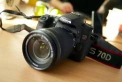 Canon EOS 70D Kit. 20 и более Мп, зум: 14х и более