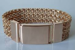 Мужской золотой браслет. 74 грамма.