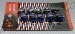 Болты крепления пластика (со скобой) синий (10 шт в комплекте)