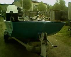 Америк. плоскодонная лодка ВОАТ LOWE с лодоч мотором Меркури 90 водом. Год: 1991 год, длина 5,00м., двигатель подвесной, 90,00л.с., бензин
