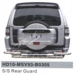 Защита бампера. Mitsubishi Pajero, V93W, V97W