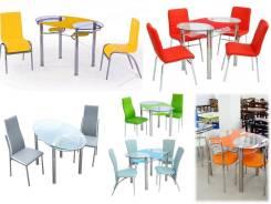 Распродажа цветных столов. Акция длится до 31 января
