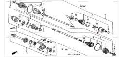 Шрус подвески. Honda: Torneo, Avancier, Odyssey, Accord, Stream, Integra, Stepwgn Двигатели: F20B5, F23A2, F23A1, F23A3, F23A6, F20B2, K20A1, D17A2