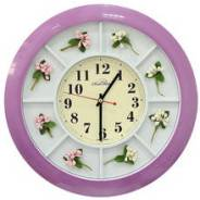 Часы настенные Авангард цветы