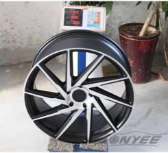 Новые диски F1R R18 5X120/114,3 ET38 J8,5 черные + серебро. 8.5x18, 5x114.30, 5x120.00, ET38, ЦО 73,1мм. Под заказ