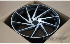 Новые диски F1R R18 5X120/114,3 ET38 J9,5 черные + серебро. 9.5x18, 5x114.30, 5x120.00, ET38, ЦО 73,1мм. Под заказ