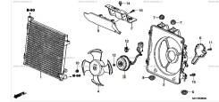 Вентилятор радиатора кондиционера. Honda HR-V, GF-GH4, LA-GH2, LA-GH3, LA-GH4, ABA-GH4, GF-GH2, GF-GH3, ABA-GH3, LA-GH1, GF-GH1 Двигатели: D16W1, D16W...