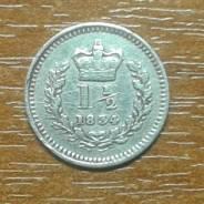 Великобритания (Англия) 1 1/2 пенса 1834 George IIII KM 719 Сереб