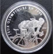 10 франков.2006г. Конго. Олимпиада/Велогонки. Серебро. RARE. Proof.
