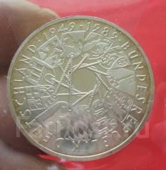 Германия 10 Марок 1989 (G) 40 Лет ФРГ (Серебро)